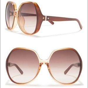 Chloe Oversized Sunglasses - Gradient Caramel